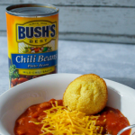 Bushs Beans just made life easier with their BUSH'S® Chili Beans! I share my Easy Meatless Chili you can make in under half an hour! #BUSHSChiliBeans #Ad #frugalnavywife #chillirecipe #chilli #dinner | Dinner Recipe | Chilli Recipe | Meatless Recipe | Meatless Chilli Recipe | Easy Dinner Ideas