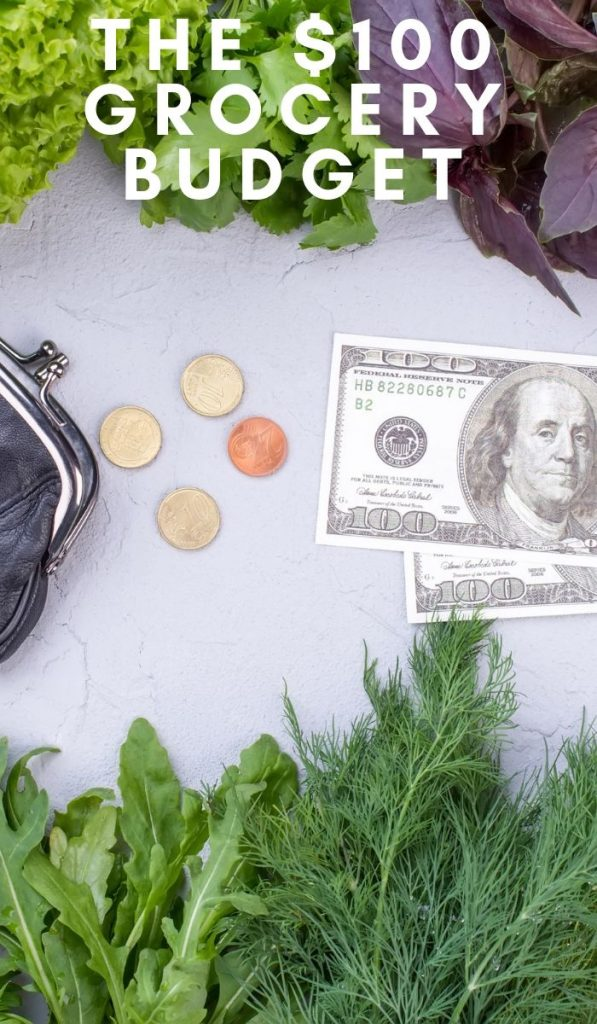 Learning to stretch your groceries is easiest if you imagine that you only have $100 left until payday. This is the $100 Grocery Budget plan. #grocerybudget #frugalliving #groceries #saveongroceries #frugalnavywife