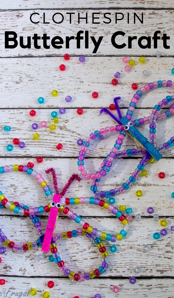 Glitter Clothespin Butterfly Craft
