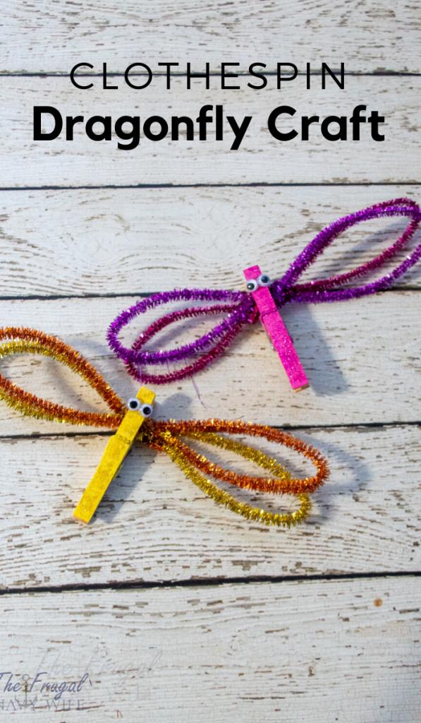 Glitter Dragonfly Craft