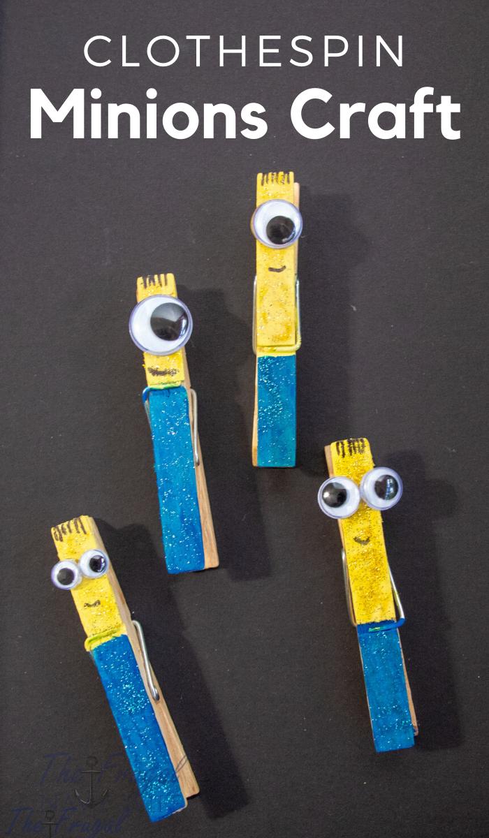 Glitter Minions Clothespin Craft