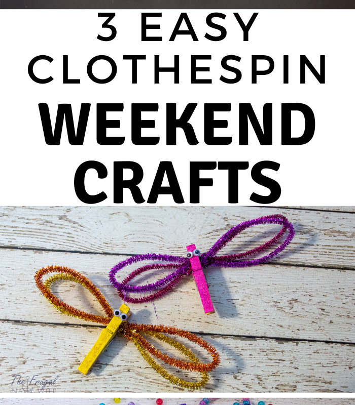 Weekend Clothespin Crafts with Discount School Supply