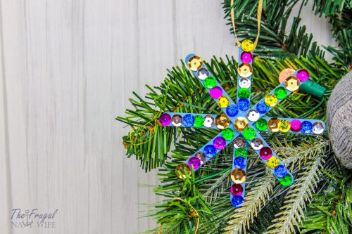 Easy DIY Popsicle Stick Snowflake Crafts