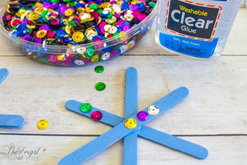 DIY Popsicle Stick Snowflake Craft
