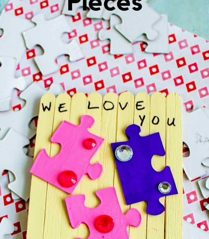 DIY Valentines From Popsicle Sticks – I Love You to Pieces Valentine