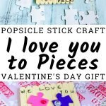 Homemade Valentine's for family and friends can be as easy as Popsicle Sticks and Puzzle Pieces. Let the kids make this DIY Valentine's from Popsicle Sticks this year! #thefrugalnavywife #popsiclestickcrafts #puzzlepiececrafts #kidsdiy #easykidscrafts | Easy Crafts for Kids | Valentine's Day Gift Ideas | Homemade Valentine's for Kids | Puzzle Piece Crafts | Easy DIY | Popsicle Stick Crafts