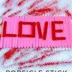 My kids wanted to do a bunch of Valentine's Day Crafts like this Love Popsicle Stick Sign Craft. It turned out so good, here are the steps to make it! #thefrugalnavywife #easykidscraft #valentinesdaycraft #valentinesdiy   Valentine's Day Crafts   Popsicle Stick Crafts   easy Kids Craft   Valentine's DIY
