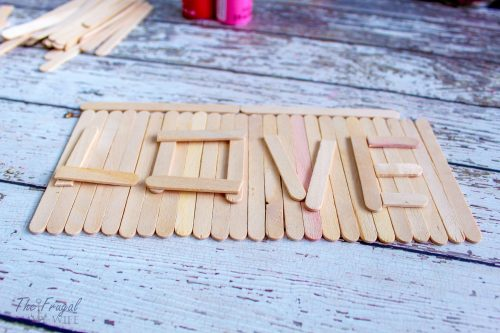 Popsicle Stick Sign Craft