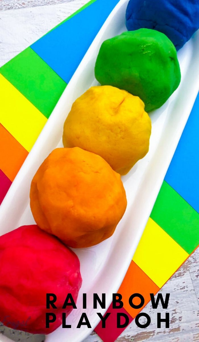 I make my own homemade playdough because it's cheaper. One of our favorites is the DIY rainbow playdough, easy to make and perfect for St Patricks Day!  #thefrugalnavywife #playdoh #playdough #stpatricksday #rainbow #kidsactivity | Kids Activities | Rainbow Playdoh | Homemade Playdough | St. Patrick's Day Activities
