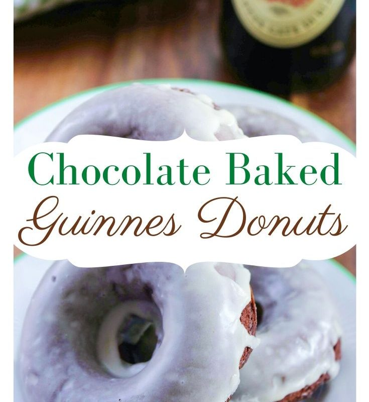 Chocolate Baked Guinness Donut Recipe with Baileys Glaze