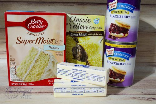 Easy Blackberry Dump Cake Ingredients