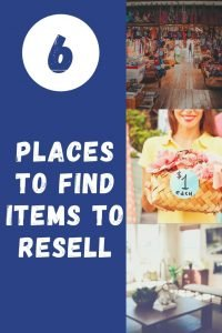 You can make money by reselling, but you need to have a good inventory on hand first. Here are my favorite Places to Find Items to Resell. #thefrugalnavywife #frugalliving #waystomakemoney #reselling #moneytips #makingmoney | Frugal Living | Ways to Make Money | Reselling Items | Money Tips