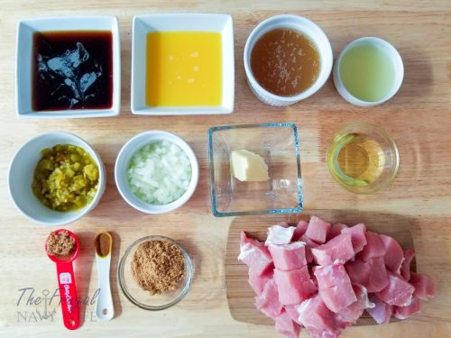Pulled Pork Instant Pot Street Tacos Ingredients
