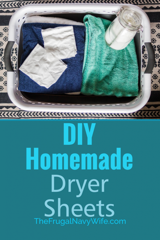 Save money on your laundry bill each month by making these easy homemade dryer sheets. Never spend money on them again and they are reusable. #thefrugalnavywife #dryersheets #frugalliving #homemade #savemoney #frugaldiy | Frugal Living Tips | Reusable Dryer Sheets | How to make Dryer Sheets | Frugal DIY | Saving Money | Homemade Dryer Sheets | Laundry Hacks | Dryer Sheet Hacks