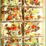 Homemade Taco Pizza Recipe, its pizza but without the sauce and with taco toppings and its delicious! Give it a try and you will be surprised! #pizza #tacos #dinner #frugalnavywife #easyweeknightrecipe #easyrecipe #tasty | Homemade Dinner Ideas | Dinner Recipes | Taco Recipes | Pizza Recipes | Easy Weeknight Meals | Easy Recipe | Easy Meal Ideas