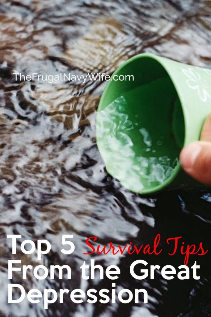 These basic Survival Tips From the Great Depression will help you get back to the simple things and make life easier. #frugalnavywife #budgeting #sewing #greatdepressionera #survivaltips #frugalliving | Frugal Living Tips | Frugal Living Hacks | Budgeting | Living on Less
