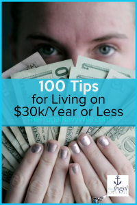 Following these frugal living tips, you can save money and do it comfortably all while living on $30k a year. #frugalnavywife #frugallivingtips #frugalliving #livingonless #howtosavemoney #howtosave #money #budgeting | Ideas to save money | Living on Less | Frugal Living Tips | How to Save Money | Budgeting Ideas