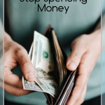 When you are looking to get your budget on track, advice you get is to stop spending money. Here are the Tips to Stop Spending Money I used. #savingmoney #frugalliving #frugalnavywife #budgeting #finances   How to Save Money   How to stop spending money   Saving Money   Money Hacks   Saving Money Hacks   Frugal Living