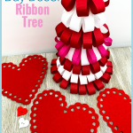 Perfect to use up old supplies you may have laying around! Make these Valentine's Day Ribbon Tree for the kids! #frugalnavywife #valentinesday #valentinesdaydecorations #easyvalentinecrafts #valentinesdaycrafts #frugaldiy #frugaldecorations   Valentine's Day Crafts   Easy Crafts for Kids   Ribbon Tree Crafts   Valentine's Day Decorations   Frugal Home Decor  