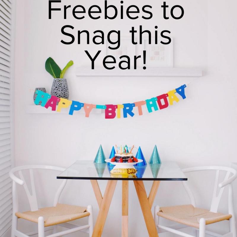 Mega List of Birthday Freebies