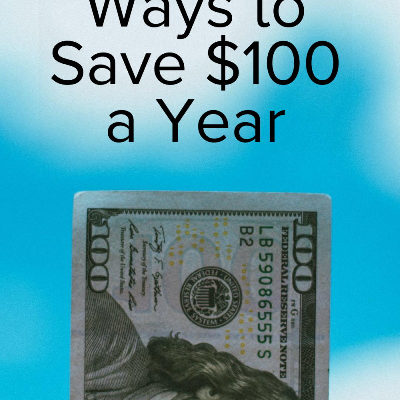 30+ Ways to Save $100 a Year