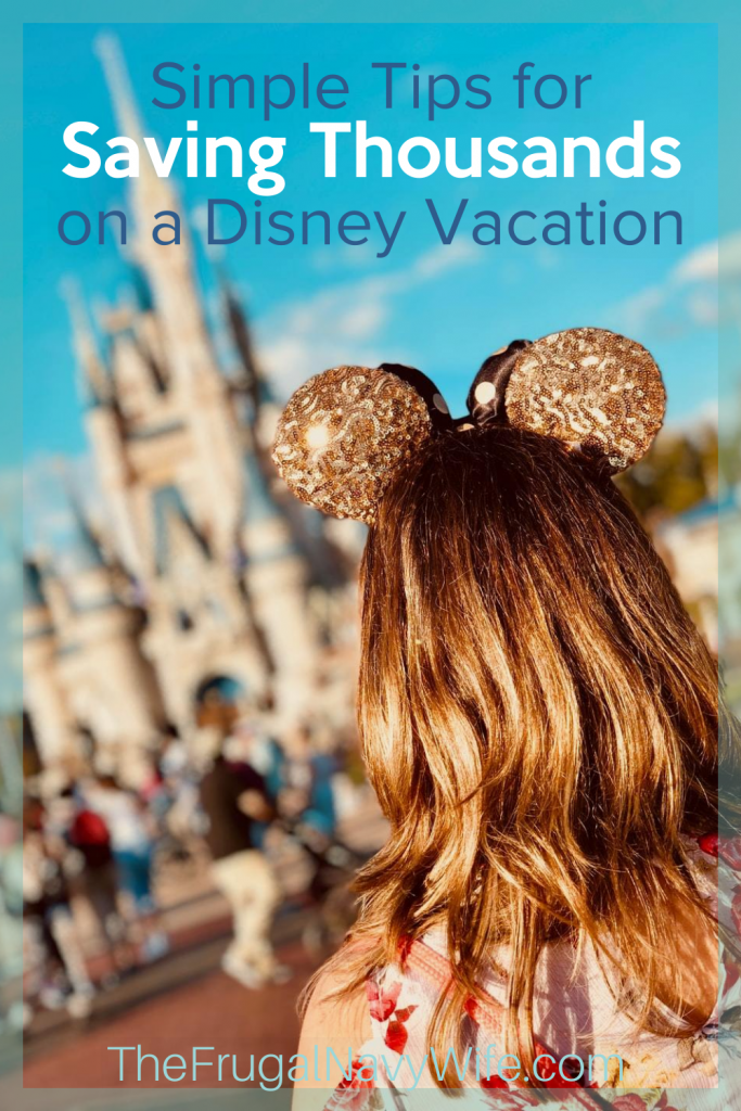 Some of the top Disney World tips are How to save money for a Disney Vacation. Plus, tips on where it is worth it to spend the money. Here's our list! #frugalnavywife #disney #vacation #disneyvacation #howtosaveatdisney | How to Save At Disney | Disney Vacation | Ways to save at Disney | How to Save for Disney