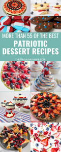 We have gathered up a great list of Patriotic Dessert Recipes for you to enjoy for your next holiday celebration. Which will you make first? #frugalnavywife #patriotic #desserts #recipes #patrioticholidays #redwhiteblue | Red White & Blue Food Ideas | Patriotic Dessert Recipes | Patriotic Dessert Ideas | Dessert Recipes | Desserts | Recipes for Patriotic Holidays
