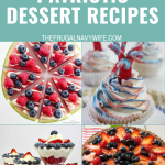 We have gathered up a great list of Patriotic Dessert Recipes for you to enjoy for your next holiday celebration. Which will you make first? #frugalnavywife #patriotic #desserts #recipes #patrioticholidays #redwhiteblue   Red White & Blue Food Ideas   Patriotic Dessert Recipes   Patriotic Dessert Ideas   Dessert Recipes   Desserts   Recipes for Patriotic Holidays