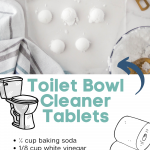 These Homemade Toilet Bowl Cleaner Tablets are another item we started making to save money and I'm sharing them with you! #frugalnavywife #frugalliving #homemade #diycleaner #toiletbowlcleaner #homeremedy | Home Remedy | Homemade Cleaner | Toilet Bowl Cleaner Tablets | Homemade Toilet Cleaner | DIY Cleaner | Frugal Living | Saving Money Hacks