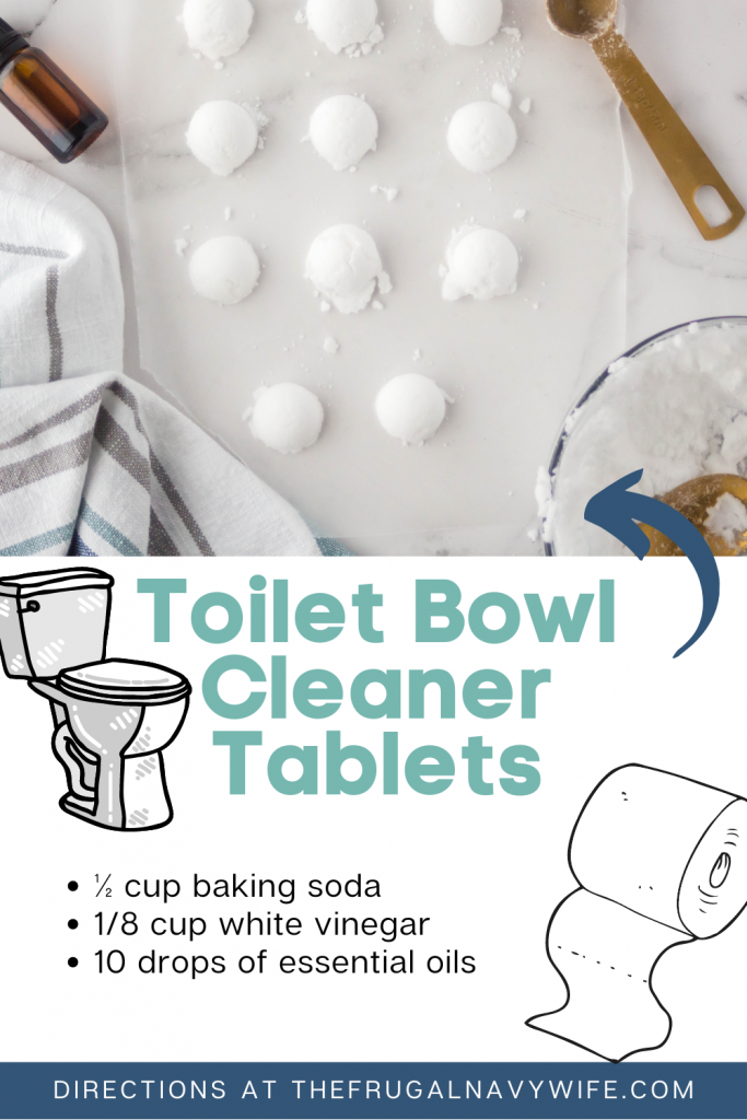 These Homemade Toilet Bowl Cleaner Tablets are another item we started making to save money and I'm sharing them with you! #frugalnavywife #frugalliving #homemade #diycleaner #toiletbowlcleaner #homeremedy   Home Remedy   Homemade Cleaner   Toilet Bowl Cleaner Tablets   Homemade Toilet Cleaner   DIY Cleaner   Frugal Living   Saving Money Hacks