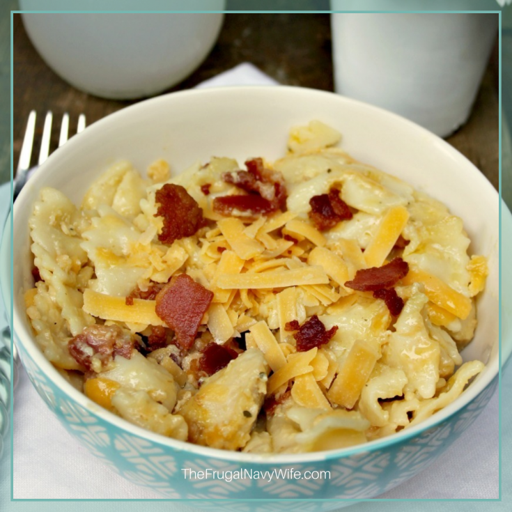 Your family is going to really enjoy this Instant Pot Chicken Bacon Ranch Pasta Recipe. The flavor is immaculate on so many levels! #thefrugalnavywife #DIYrecipes #yummy #instant pot #dinner #chickenbaconranch   Family Meal   Budget Meal   Family Instant Pot Meal   Chicken   Bacon   Dinner Recipes   Dinner Ideas   Yummy Recipes   Instant Pot Dinners   Instant Pot Pastas