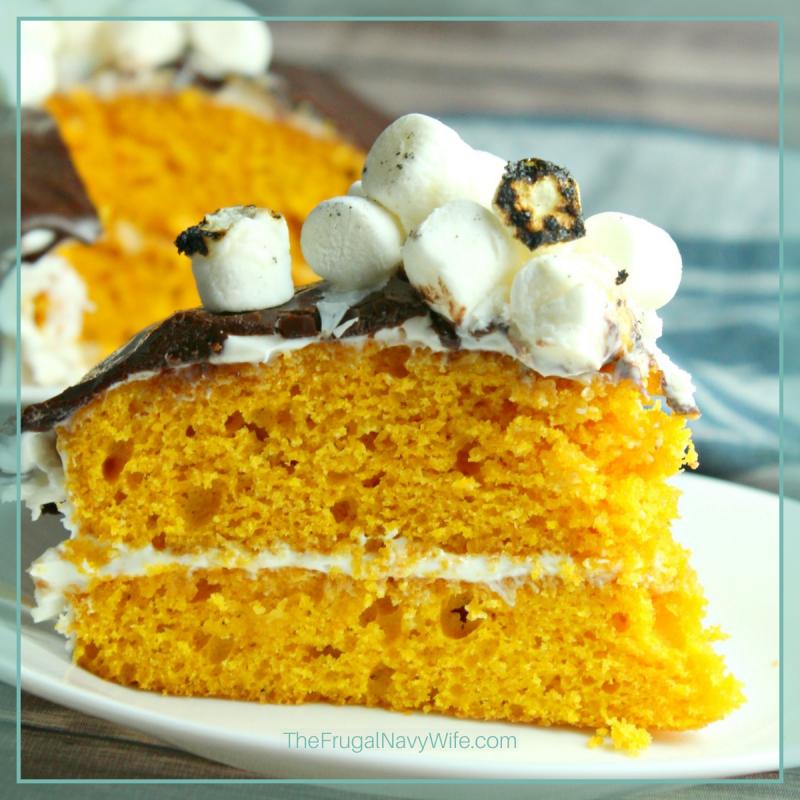 Pumpkin Smores Cake Recipe