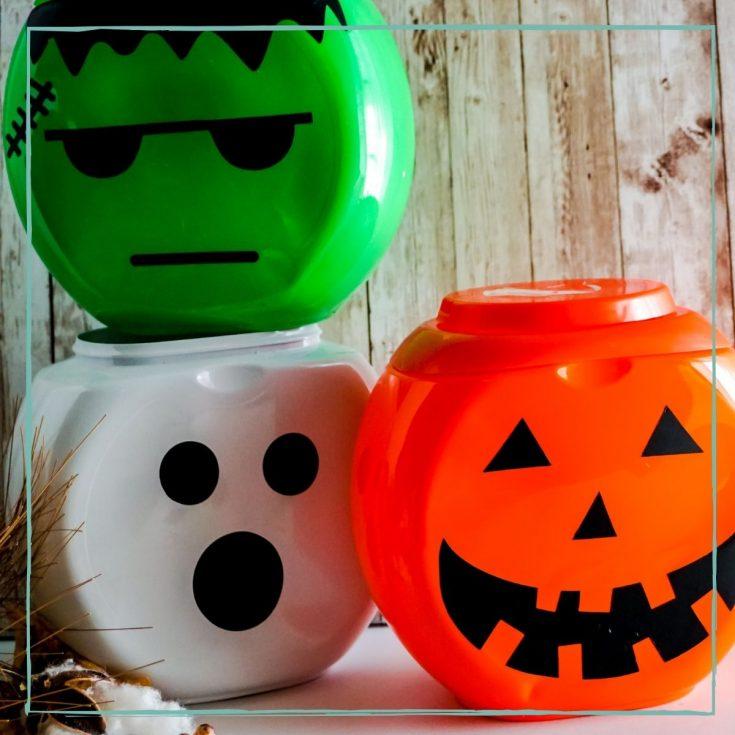 Halloween Faces Laundry Craft - Cricut Craft