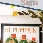 Fall is among us and this Pumpkin Fall Sign Cricut Craft is perfect for updating your home decor this season. #frugalnavywife #fall #diy #pumpkins #cricutcraft #easy | Fall Crafts | Pumpkins | DIY Crafts | Fall Home Decor | Pumpkin Cricut Craft | Easy Cricut Craft |